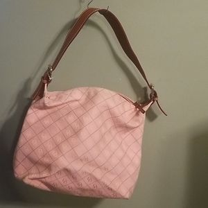 Vintage Dooney and Bourke purse bag pink and brown